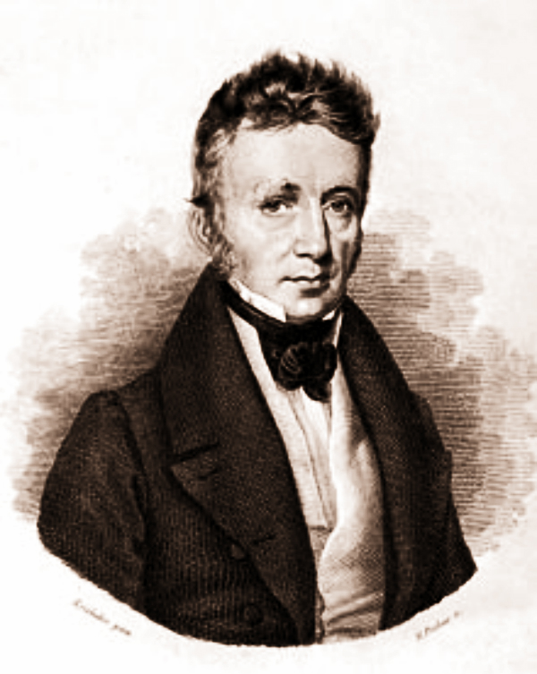 Portrait of Joseph Johann von Littrow (1781–1840) from his 1836 book Physische Astronomie (Physical Astronomy). (Wikipedia)